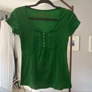 EUC Victoria's Secret Tee Shop Green Shirt - Sz S
